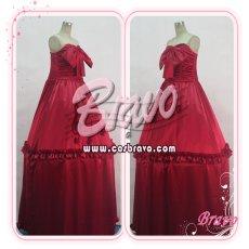 画像3: マクロスF ランカ・リー 赤ワンピース コスプレ衣装 (3)