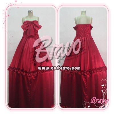 画像1: マクロスF ランカ・リー 赤ワンピース コスプレ衣装