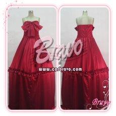 画像1: マクロスF ランカ・リー 赤ワンピース コスプレ衣装 (1)