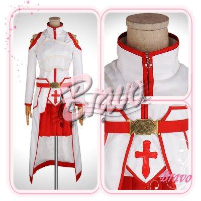 画像1: ソードアート・オンライン SAO アスナ 血盟騎士団 コスプレ衣装