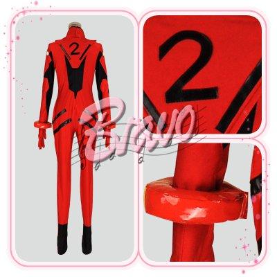 画像3: EVA ヱヴァンゲリヲン    アスカ プラグスーツ版 コスプレ衣装