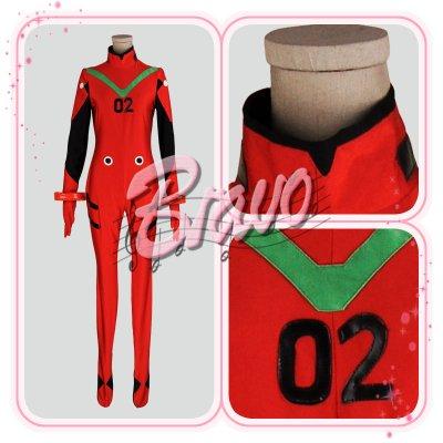 画像1: EVA ヱヴァンゲリヲン    アスカ プラグスーツ版 コスプレ衣装