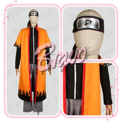 画像1: NARUTO -ナルト-疾風伝 仙人モード うずまきナルト コスプレ衣装