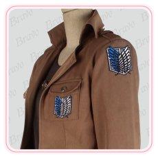 画像4: 進撃の巨人  ユミル  刺繍版 修正版 コスプレ衣装 (4)