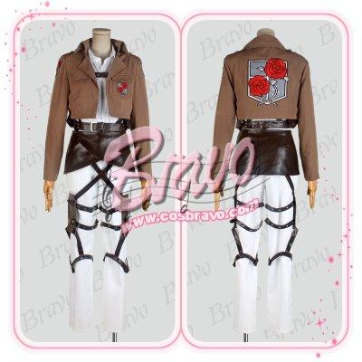 画像1: 進撃の巨人 駐屯兵団 ハンネス 刺繍版 団服 修正版  コスプレ衣装