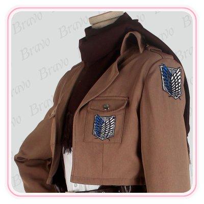 画像2: 進撃の巨人 ミカサ・アッカーマン  調査兵団 刺繍版 修正版 コスプレ衣装