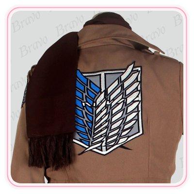 画像3: 進撃の巨人 ミカサ・アッカーマン  調査兵団 刺繍版 修正版 コスプレ衣装