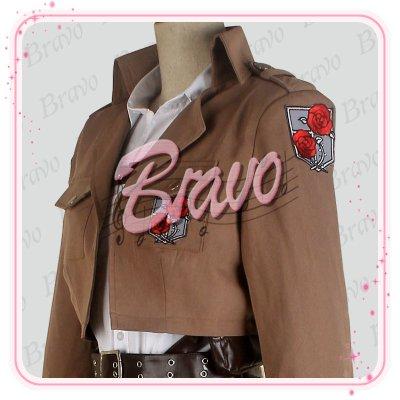 画像2: 進撃の巨人 駐屯兵団 ハンネス 刺繍版 団服 修正版  コスプレ衣装