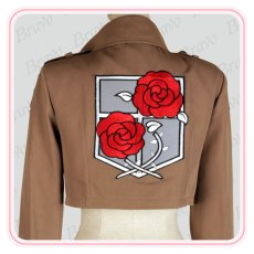 画像5: 進撃の巨人 ハンネス 駐屯兵団 刺繍版 コート 団服 コスプレ衣装 (5)