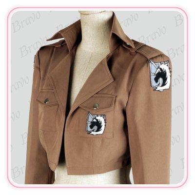 画像2: 進撃の巨人 憲兵団 ジャン・キルシュタイン 刺繍版 団服 コート コスプレ衣装