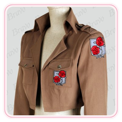 画像2: 進撃の巨人 ハンネス 駐屯兵団 刺繍版 コート 団服 コスプレ衣装