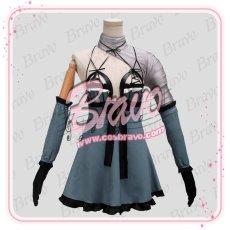 画像1: NieR Automata ニーアオートマタ DLC 露出の多い女性の服 2B前作キャラ カイネ衣装コスプレ衣装 (1)