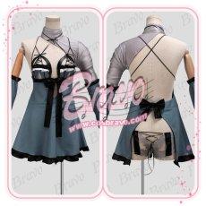 画像3: NieR Automata ニーアオートマタ DLC 露出の多い女性の服 2B前作キャラ カイネ衣装コスプレ衣装 (3)