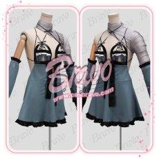 画像2: NieR Automata ニーアオートマタ DLC 露出の多い女性の服 2B前作キャラ カイネ衣装コスプレ衣装 (2)