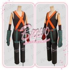 画像3: 僕のヒーローアカデミア 爆豪勝己 ヒーローコスチューム 戦闘服 コスプレ衣装 (3)
