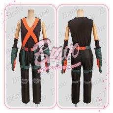 画像2: 僕のヒーローアカデミア 爆豪勝己 ヒーローコスチューム 戦闘服 コスプレ衣装 (2)