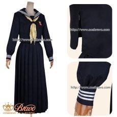 画像8: 在庫!今日から俺は 京子 学生服 スケバン セーラー服 コスプレ衣装 ロングスカート (8)