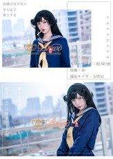画像2: 在庫!今日から俺は 京子 学生服 スケバン セーラー服 コスプレ衣装 ロングスカート (2)
