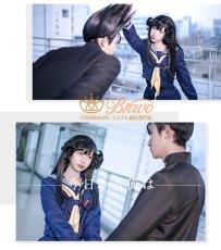 画像5: 在庫!今日から俺は 京子 学生服 スケバン セーラー服 コスプレ衣装 ロングスカート (5)
