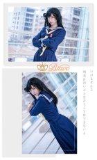 画像4: 在庫!今日から俺は 京子 学生服 スケバン セーラー服 コスプレ衣装 ロングスカート (4)