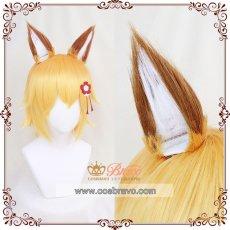 画像2: 世話やきキツネの仙狐さん 主人公 仙狐 コスプレウィッグ 耳付き (2)