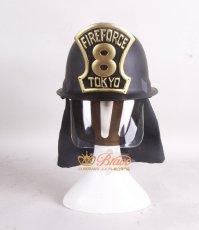 画像2: 炎炎ノ消防隊 第8特殊消防隊 防火服 全員 ヘルメット コスプレ道具 (2)