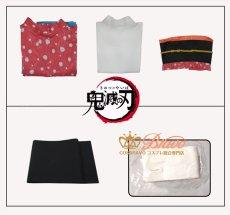 画像7: 鬼滅の刃 猗窩座の妻 恋雪 コスプレ衣装 (7)
