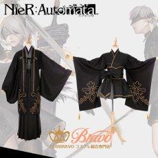 画像1: NieR Automata ニーア オートマタ 2B 9S 着物 同人衣装 コスプレ衣装 (1)