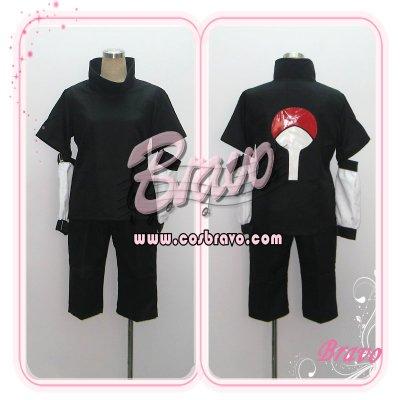 画像1: NARUTO ナルト うちはサスケ 黒  コスプレ衣装