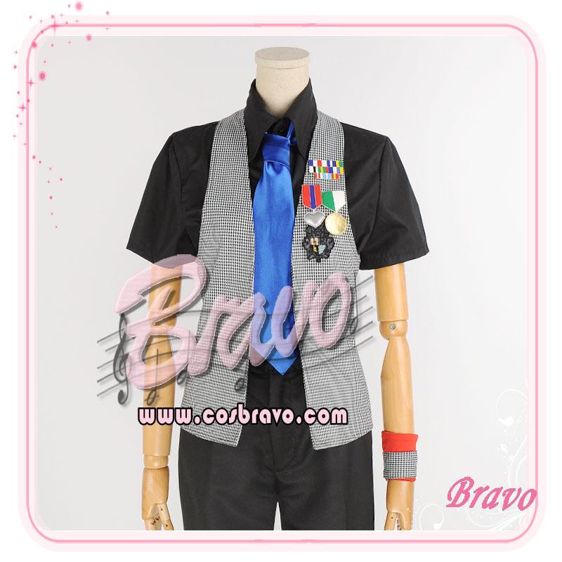 画像1: うたの☆プリンスさまっ♪Debut 黒崎蘭丸 コスプレ衣装 (1)