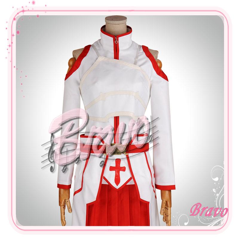 画像1: ソードアート・オンライン SAO アスナ 血盟騎士団 コスプレ衣装 (1)