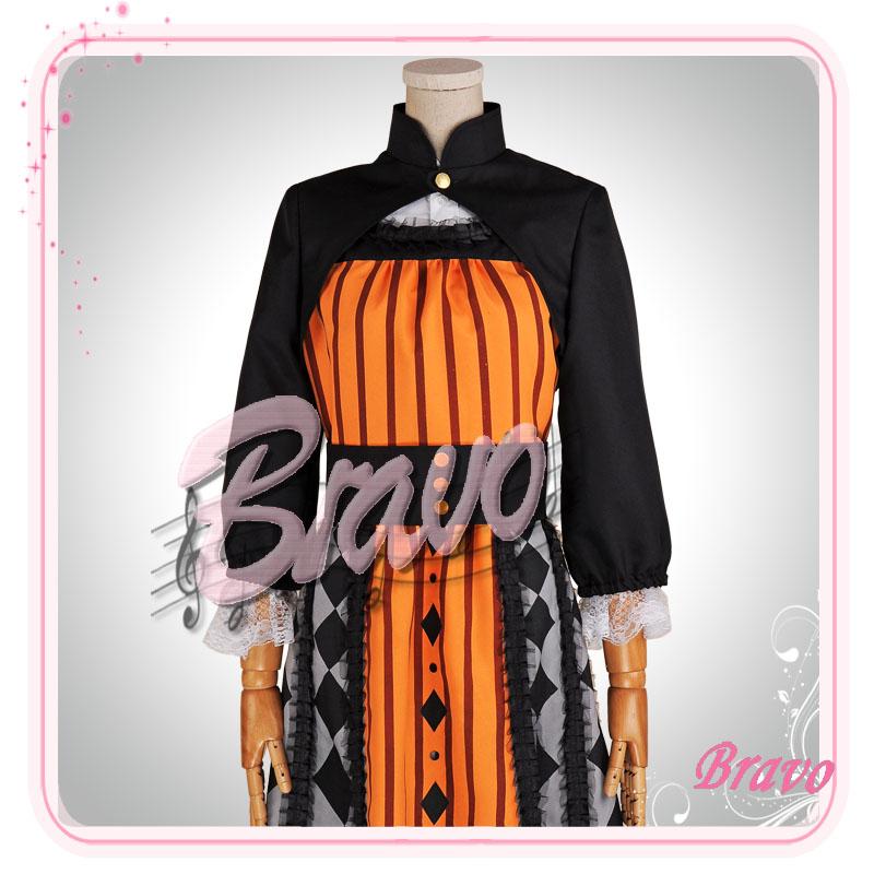 画像1: Sound Horizon 黒き女将の宿 田舎娘 コスプレ衣装 (1)
