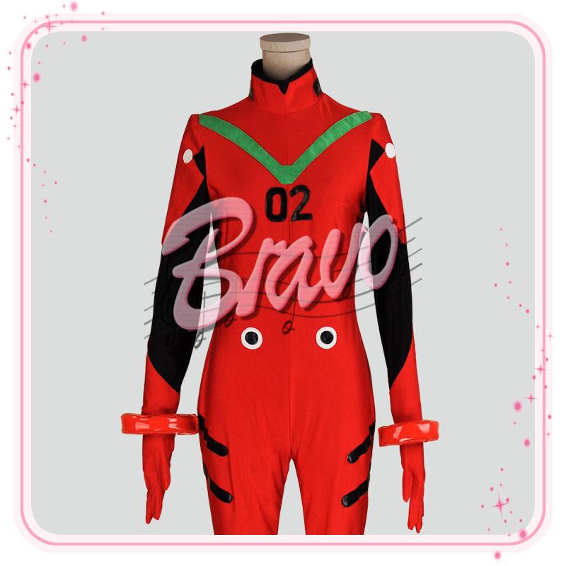 画像1: EVA ヱヴァンゲリヲン    アスカ プラグスーツ版 コスプレ衣装 (1)