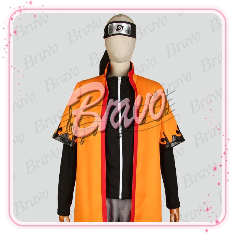 画像1: NARUTO -ナルト-疾風伝 仙人モード うずまきナルト コスプレ衣装 (1)