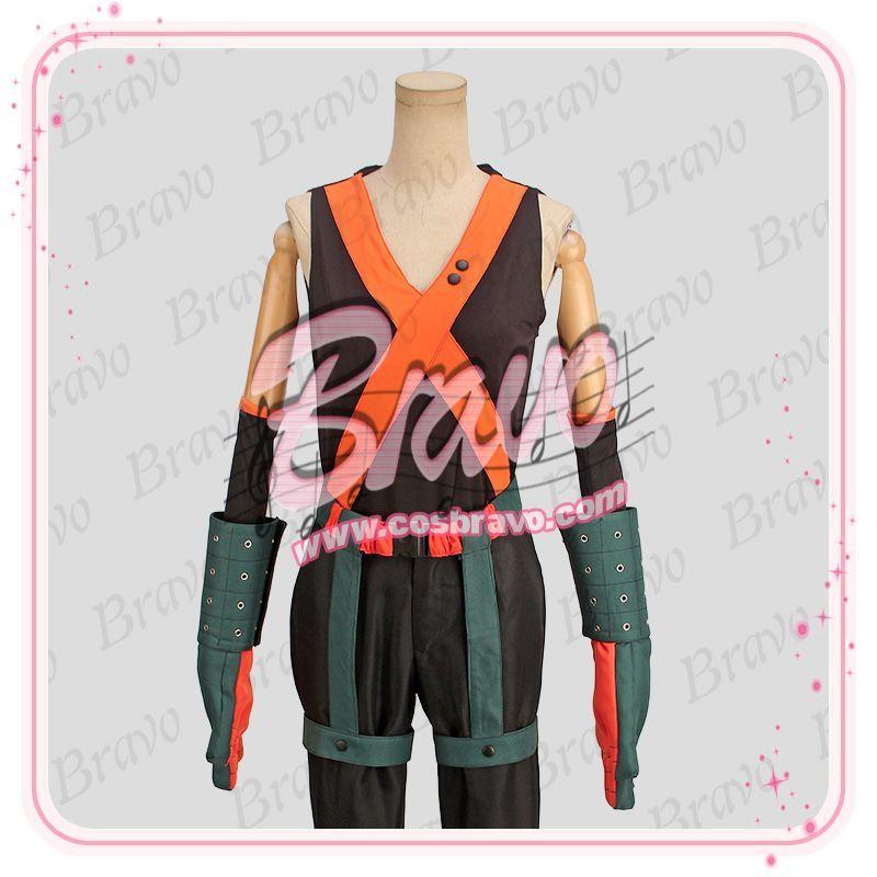 画像1: 僕のヒーローアカデミア 爆豪勝己 ヒーローコスチューム 戦闘服 コスプレ衣装 (1)