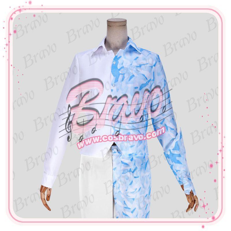 画像1: 僕のヒーローアカデミア 轟焦凍 ヒーローコスチューム 戦闘服 コスプレ衣装 (1)