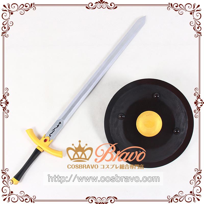 画像1: Fate/Grand Order FGO ブーディカ 約束されざる勝利の剣と盾 コスプレ道具 剣110cm+盾40cm (1)