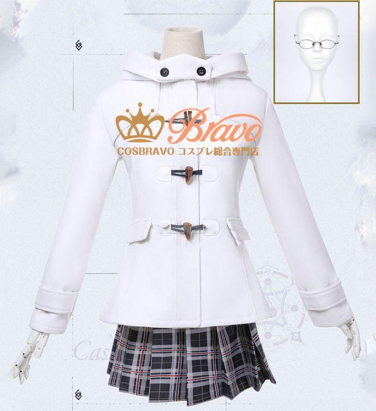 画像1: Fate/Grand Order FGO ローソン マシュ コスプレ衣装 マシュ・キリエライト 冬服 (1)