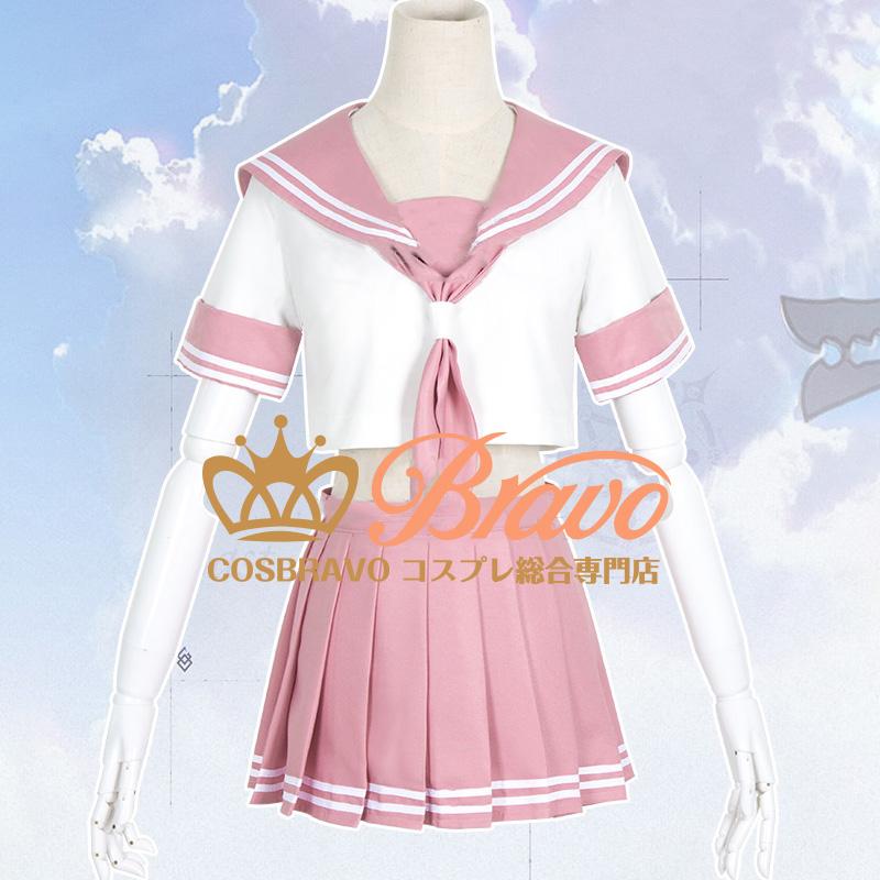 画像1: Fate/Grand Order FGO アストルフォ コスプレ衣装 セーラー服 黒ライダー (1)