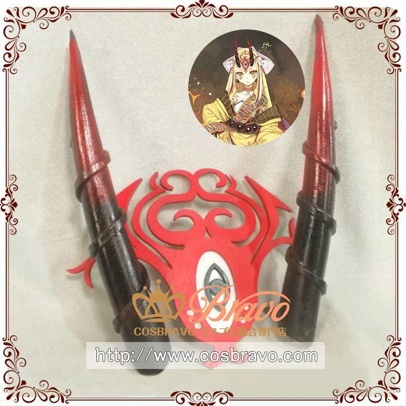 画像1:  Fate/Grand Order FGO 茨木童子 髪飾り 頭飾り 角 コスプレ道具 バーサーカー (1)