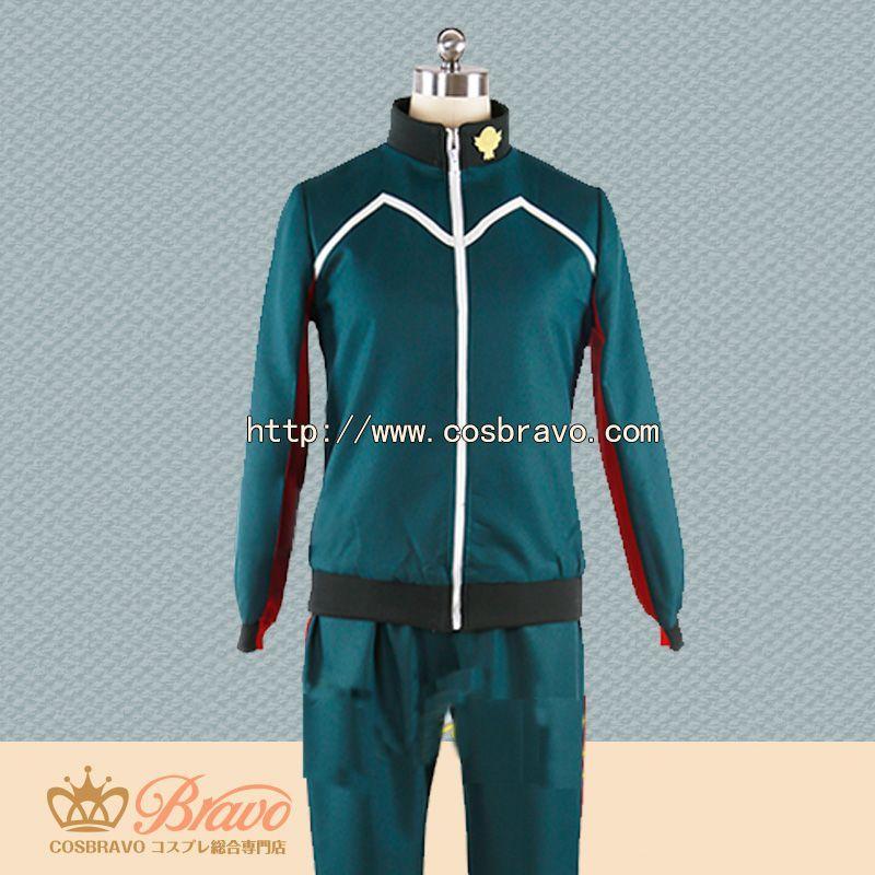画像1: イナズマイレブン アレスの天秤 帝国学園 風丸一郎太 ジャージ コスプレ衣装 (1)