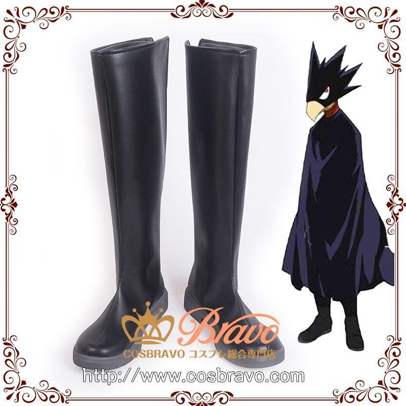 画像1: 僕のヒーローアカデミア 常闇踏陰 コスプレ靴  (1)