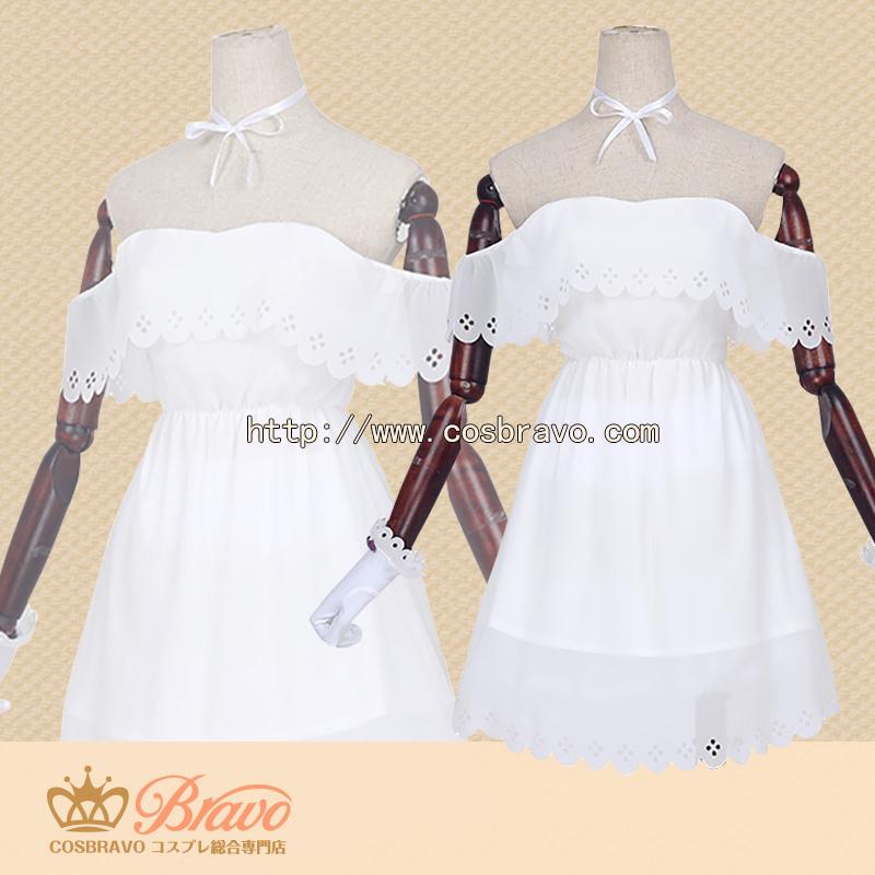 画像1: Fate/Grand Order FGO 2周年記念 英霊正装 概念礼装 マシュ・キリエライト コスプレ衣装 (1)