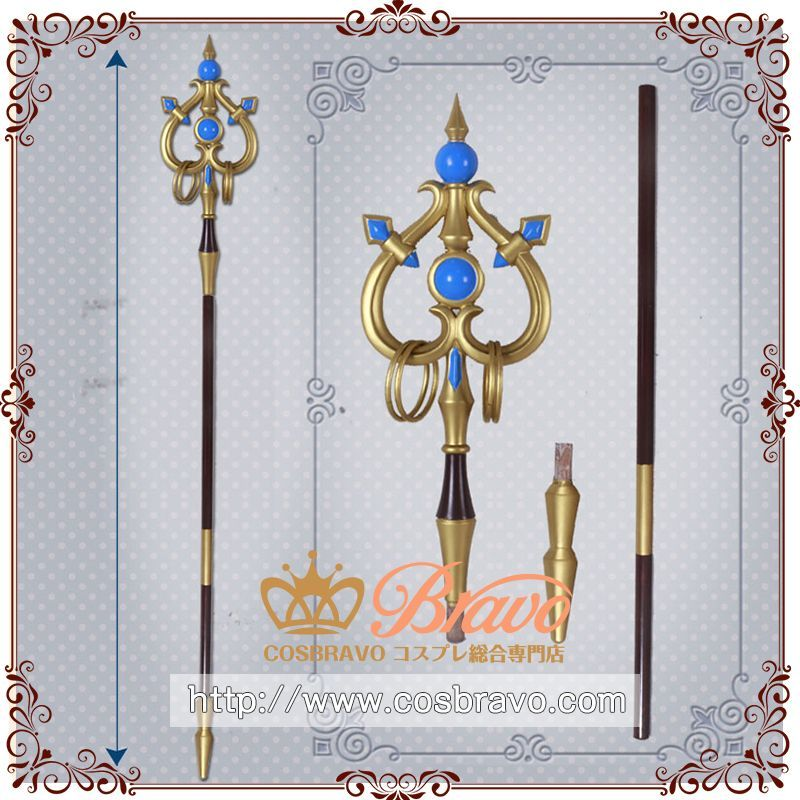 画像1: ゴブリンスレイヤー 女神官 杖 コスプレ道具 (1)