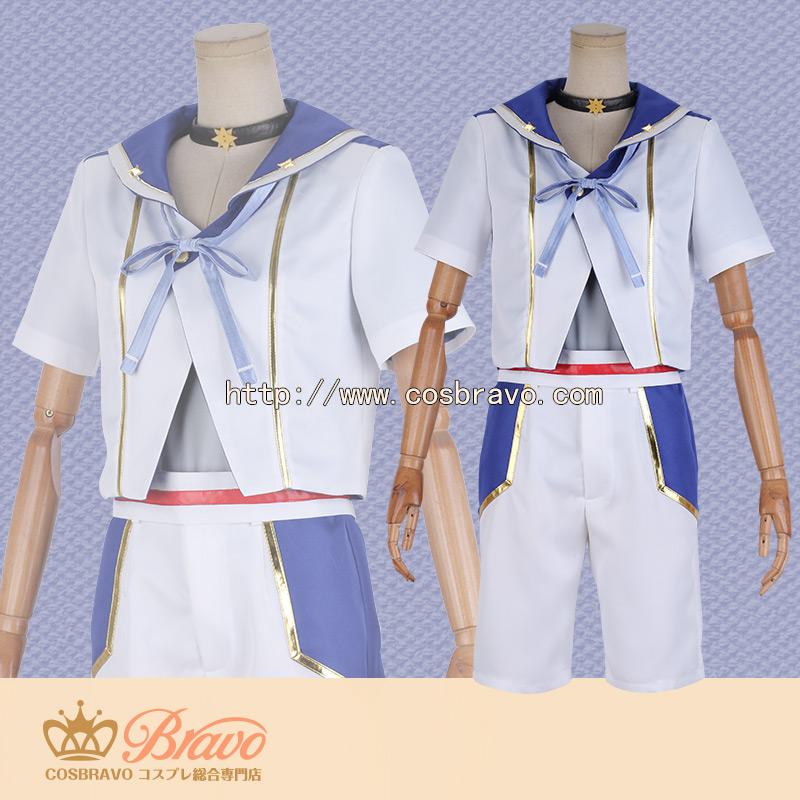 画像1: あんさんぶるスターズ! スカウト!ブルーフィラメント 朱桜司 コスプレ衣装 (1)