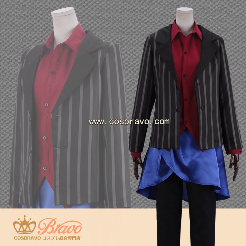 画像1: ヒプノシスマイク Limited Base 山田二郎 コラボグッズ衣装 スーツ コスプレ衣装 (1)