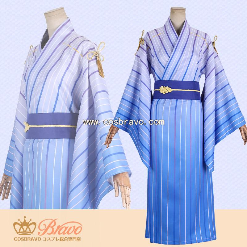 画像1: Fate/Grand Order FGO×Google Play マーリン 浴衣 コスプレ衣装 (1)