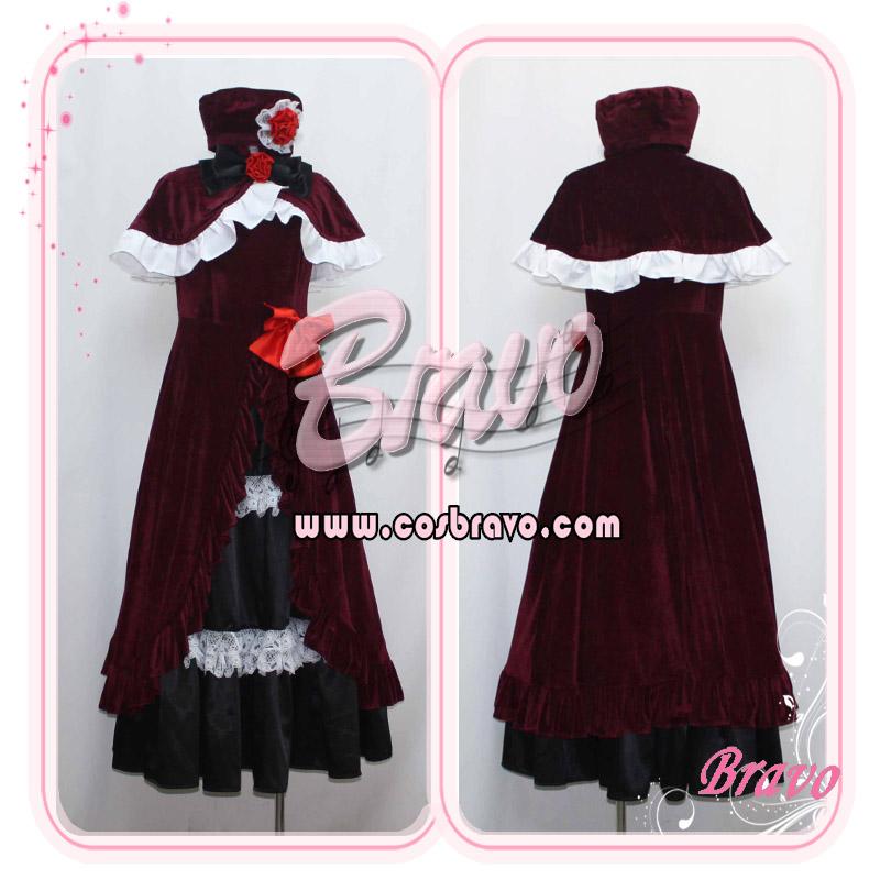 画像1: うみねこのなく頃に エヴァ・ベアトリーチェ ベロア生地 コスプレ衣装 (1)