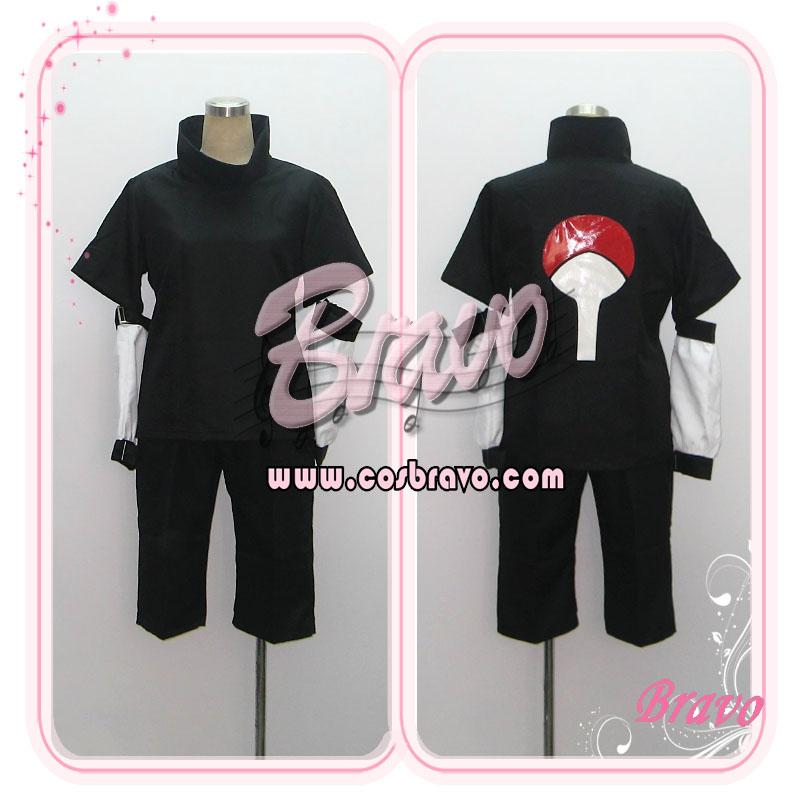 画像1: NARUTO ナルト うちはサスケ 黒  コスプレ衣装 (1)